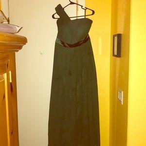 Floor length green dress